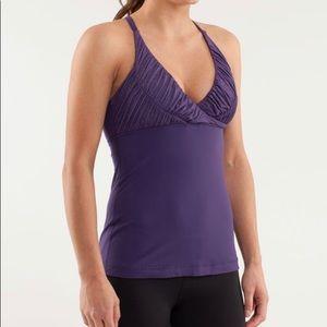 Lululemon- Pure Balance Purple Yoga Tank